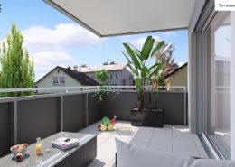 Terrassen-Ansicht TOP 4