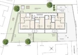 Lageplan Obergeschoss und Dachgeschoss